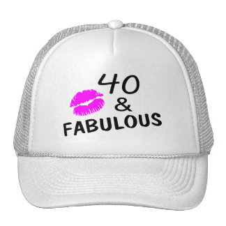 40 and Fabulous (Black and Pink) Trucker Hat