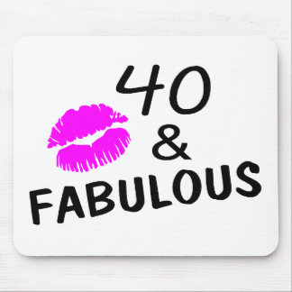 40 and Fabulous (Black and Pink) Mouse Pad
