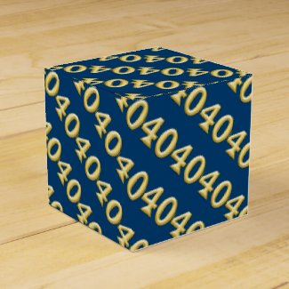 40 and fabulous blue gold birthday favor box