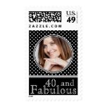 40 and Fabulous Classic Polka Dots Photo Stamps