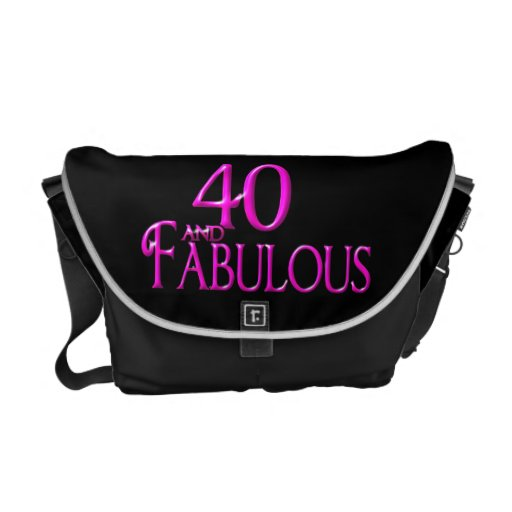 40 and Fabulous Courier Bag