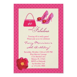 40 and Fabulous Fashion Birthday Invitation