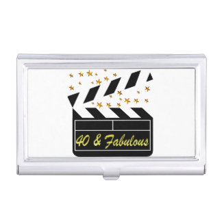 40 AND FABULOUS MOVIE QUEEN BUSINESS CARD HOLDER