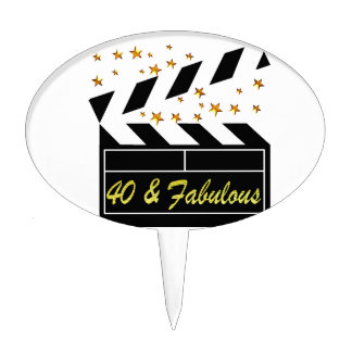 40 AND FABULOUS MOVIE QUEEN CAKE TOPPER