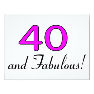 40 And Fabulous Pink Card