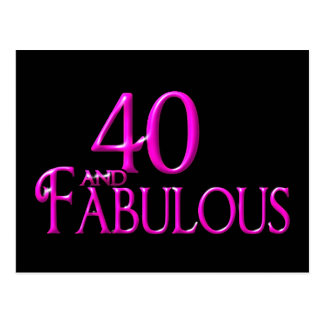 40 and Fabulous Postcard