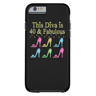 40 AND FABULOUS SHOE QUEEN DESIGN TOUGH iPhone 6 CASE