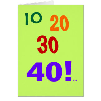 40 and Still Accounting! - 40th Birthday Card