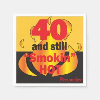 40 and Still Smokin Hot - 40th Birthday Paper Napkin
