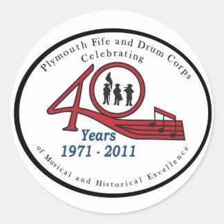 40 anniversary sticker