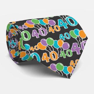 40 años coloridos de Bday - 40.o cumpleaños Corbatas Personalizadas