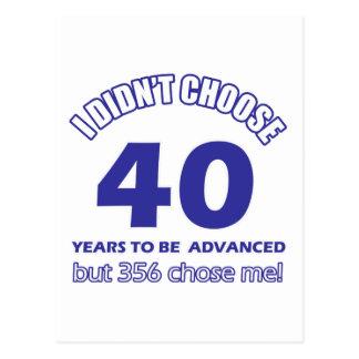 40 años de adelanto postal