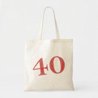 40 años de aniversario bolsa tela barata