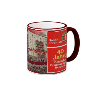 40 años de RDA la Alemania Oriental Taza De Café