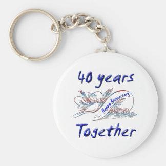40 años junto llavero personalizado