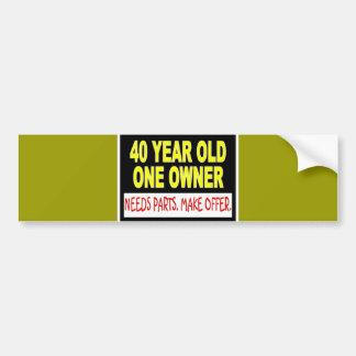 40 años que un dueño necesita piezas hacen oferta pegatina de parachoque