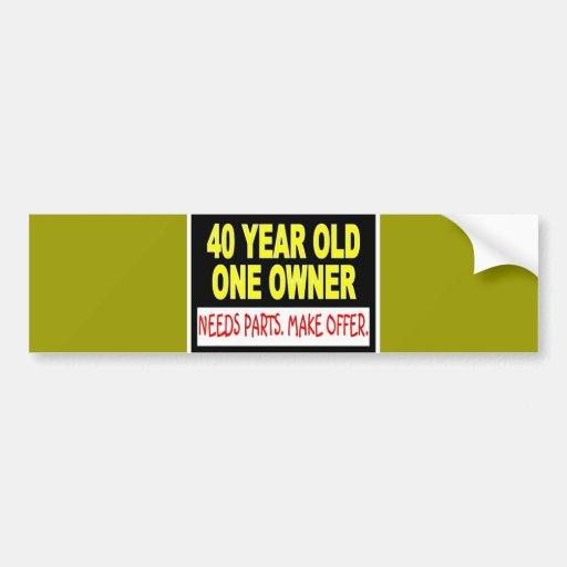 40 años que un dueño necesita piezas hacen oferta pegatina para auto