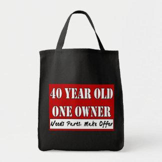 40 años, un dueño - las piezas de las necesidades, bolsa tela para la compra