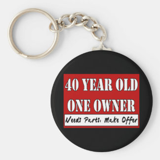 40 años, un dueño - las piezas de las necesidades, llaveros