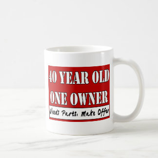 40 años un dueño - las piezas de las necesidades tazas