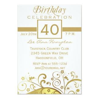 """40.as - 49.as invitaciones de la fiesta de invitación 5"""" x 7"""""""