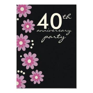 """40.as invitaciones de la fiesta de aniversario del invitación 5"""" x 7"""""""