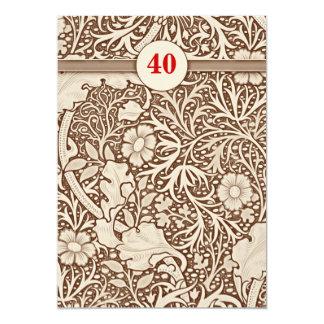 """40.as invitaciones del aniversario de boda invitación 5"""" x 7"""""""