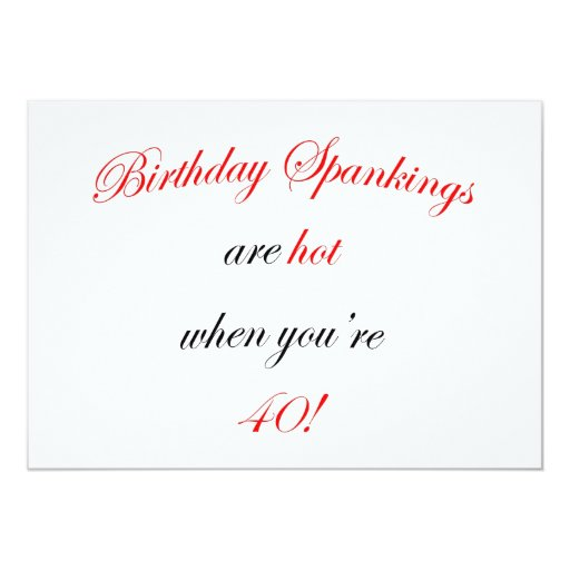 40 azotes del cumpleaños invitación 12,7 x 17,8 cm