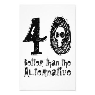 40 Better Than Alternative 40th Funny Birthday Q40 Flyer