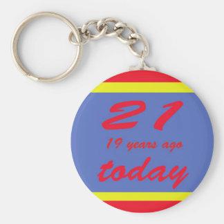 40 birthday basic round button keychain