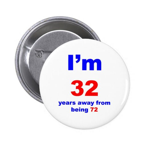 40 Birthday Pinback Buttons