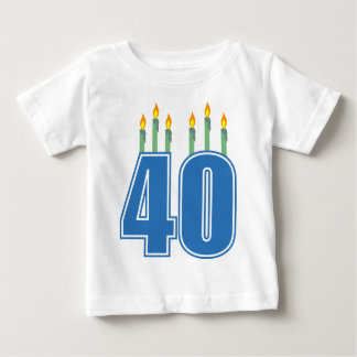 40 Birthday Candles (Blue / Green) Infant T-shirt