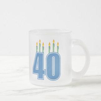 40 Birthday Candles (Blue / Green) Coffee Mugs