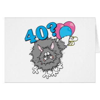 40 Birthday Cat Gift Card