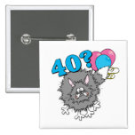 40 Birthday Cat Gift Pinback Buttons