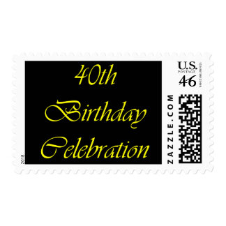 40 Birthday Celebration Stamp