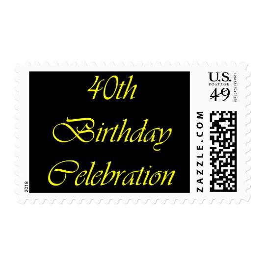40 Birthday Celebration Postage