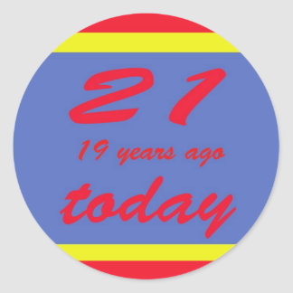 40 birthday classic round sticker