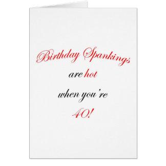 40 Birthday Spanking Card