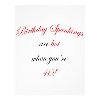 40 Birthday Spanking Flyer