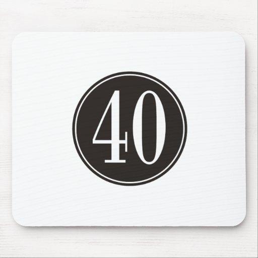 #40 Black Circle Mouse Pads