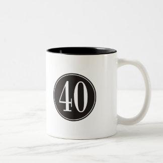 #40 Black Circle Two-Tone Coffee Mug