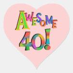 40 camisetas y regalos impresionantes del cumpleañ pegatina corazon personalizadas