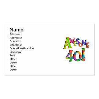 40 camisetas y regalos impresionantes del cumpleañ tarjeta de visita