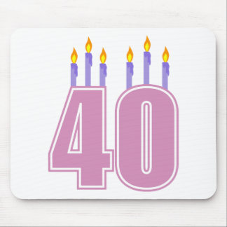 40 Candles (Pink / Purple) Mouse Pad