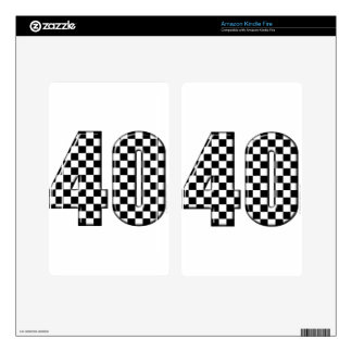 40 checkered number kindle fire decals