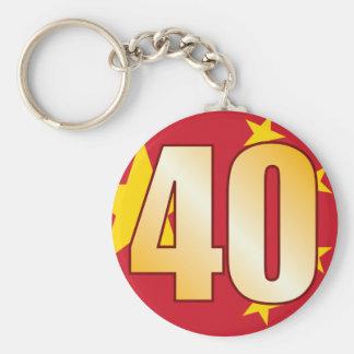 40 CHINA Gold Keychain