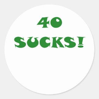 40 chupa pegatina redonda