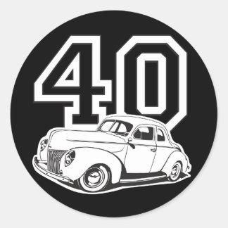 40 Classic Round Sticker