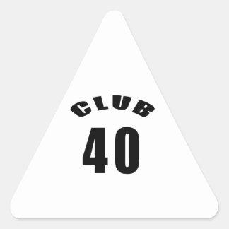 40 Club Birthday Designs Sticker